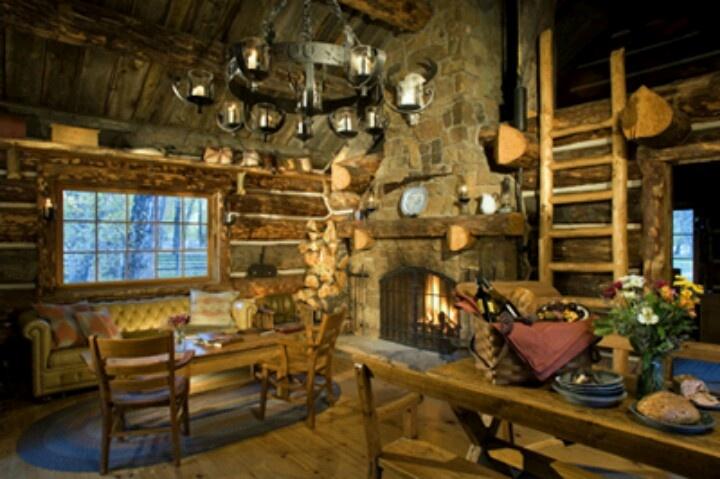 log cabin living area my log cabin dream pinterest