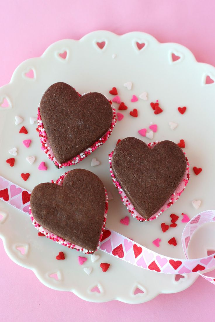 Chocolate Valentine's Sandwich Cookies