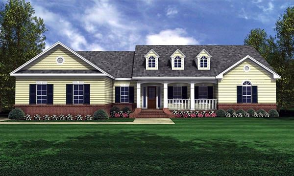 Country Ranch Traditional House Plan 59025
