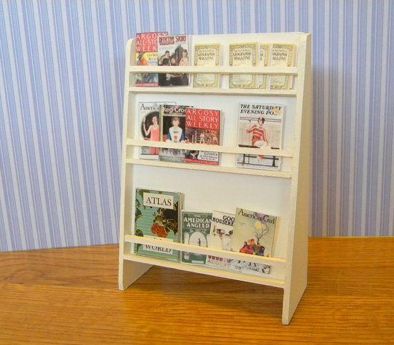 Shop magazine rack original design miniature by TreasuresFromTexas, $28.00