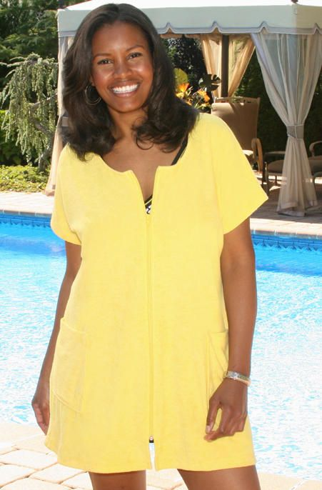 Womens Terry Cloth Bathing Suit Cover Up