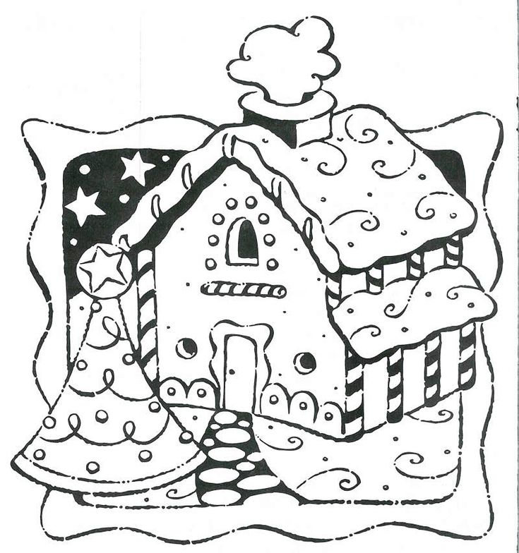 Gingerbread houses coloring pages new calendar template site