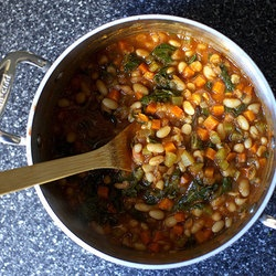 Chard and White bean Stew | D I N N E R | Pinterest