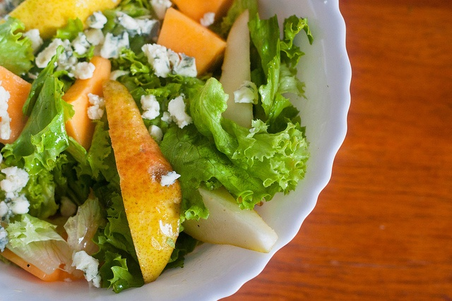 Late Summer Salad, I love salads with pear and cheese!