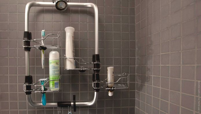 quirky - Shower Station Modular Shower Caddy. This is awesome and so functional!