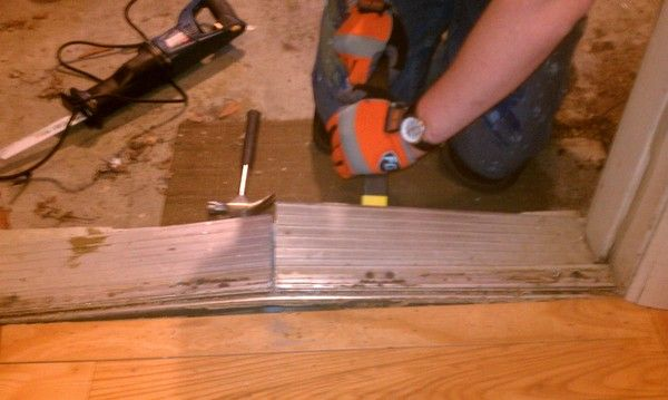 Prying Out The Old Threshold For The Home Pinterest