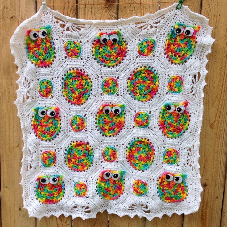 Knitting Pattern Owl Baby Blanket : Owl obsession crochet baby blanket Crochet & Knit ...