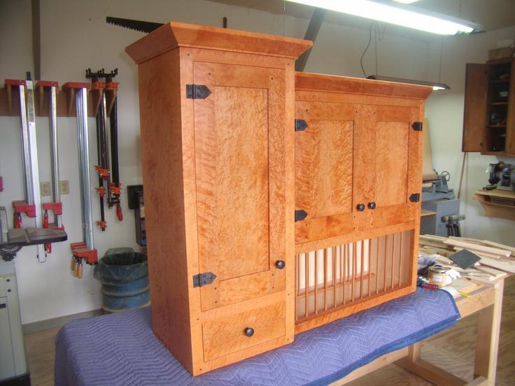 birds eye maple cabinets hand made cherry and birdseye maple kitchen by nepalo