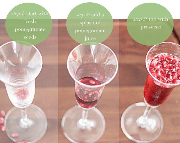 Sparkling Pomegranate Cocktail   delicious bites   Pinterest