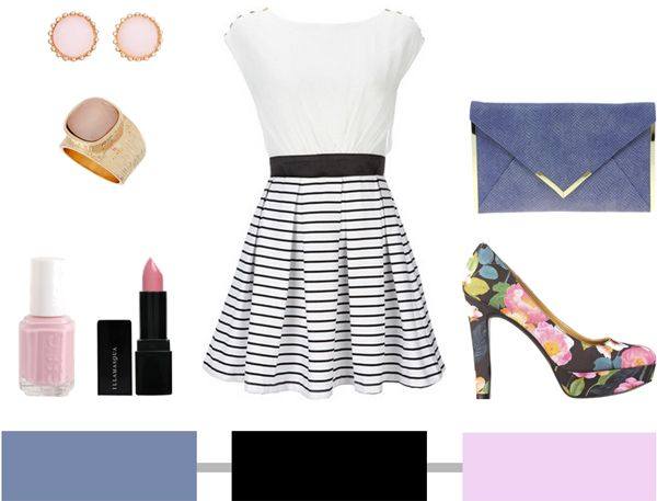 Nautical + Floral  The dress is adorable ♥