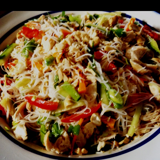 Delicious Chicken Thai noodle salad | Food Glorious Food | Pinterest