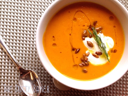 """Carrot Soup with Ginger, Tarragon and Toasted Pepitas - """"Private Chef ..."""