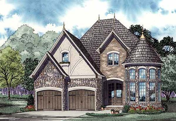 European french country tudor victorian house plan 82155 for French tudor house plans