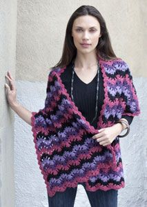 Crochet Pattern Ripple Shawl : Free Ripple Wrap Crochet Shawl Pattern. Free Crochet ...