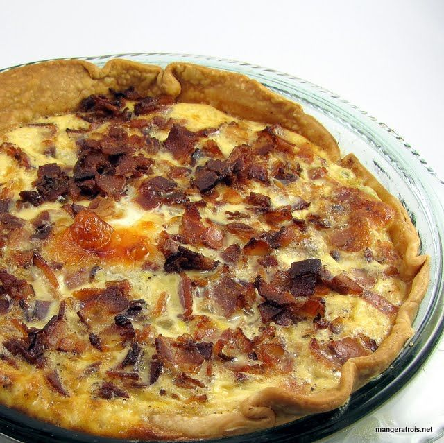 Bacon swiss quiche | Recipes for weekdays | Pinterest