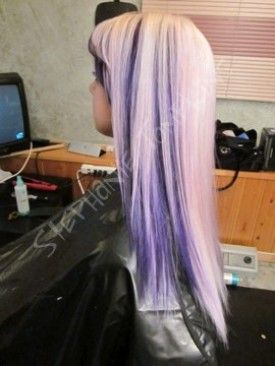 blonde with purple lowlights