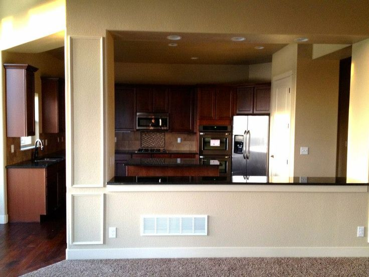 half wall in custom kitchen noco custom homes