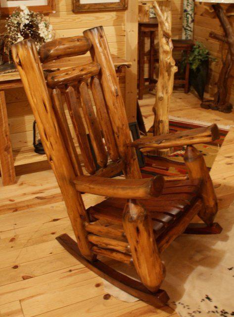 Log Rocking Chair