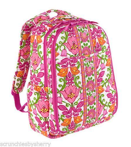 vera bradley backpack baby diaper bag lilli bell changing pad pink or. Black Bedroom Furniture Sets. Home Design Ideas