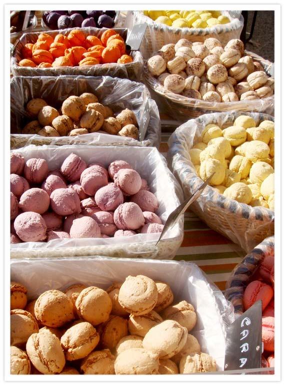 Macarons at a Provençal Winter Market   Everything....   Pinterest