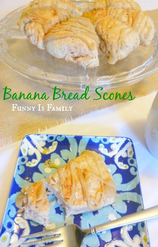 Banana Bread Scones with a delicious brown sugar glaze. A great way to ...
