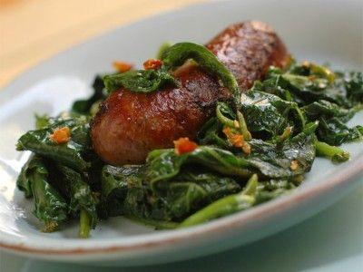 Salsiccia Con Cima Di Rapa: Sausage with Broccoli Rabe