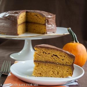 Pumpkin Cake with Dark Chocolate Buttercream Frosting   Recipe