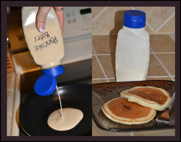 Squeeze Bottle Pancake Batter
