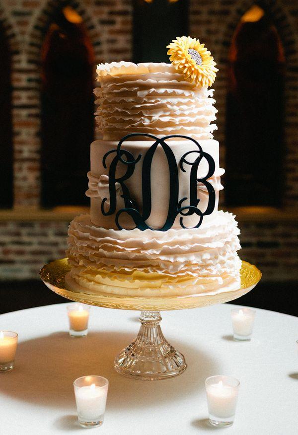 monogram wedding cake future pinterest. Black Bedroom Furniture Sets. Home Design Ideas