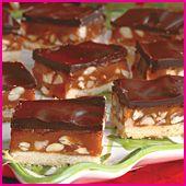 Chewy Caramel-Nut Bars | Bars, Bark and Fudge | Pinterest