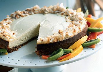 Tropical Cheesecake with Coconut Shortbread Crust Recipe   Epicurious ...