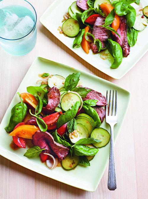 Spicy Basil Beef Salad | {a thai love affair} | Pinterest