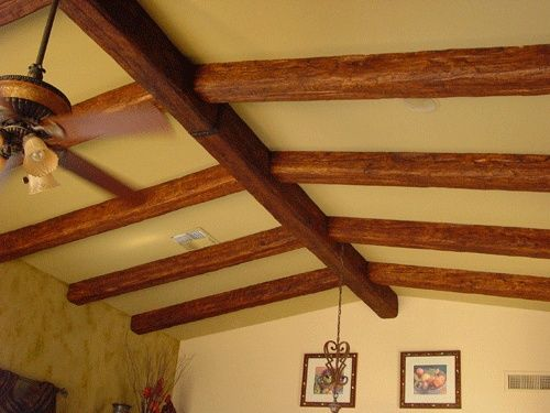 Faux beams faux wood beams and planks projects to try for Faux wood ceiling planks