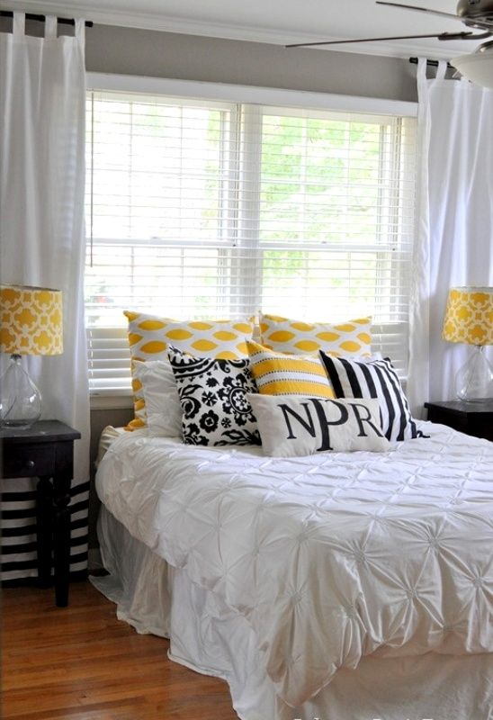 yellow and gray master bedroom furniture and interior design pint