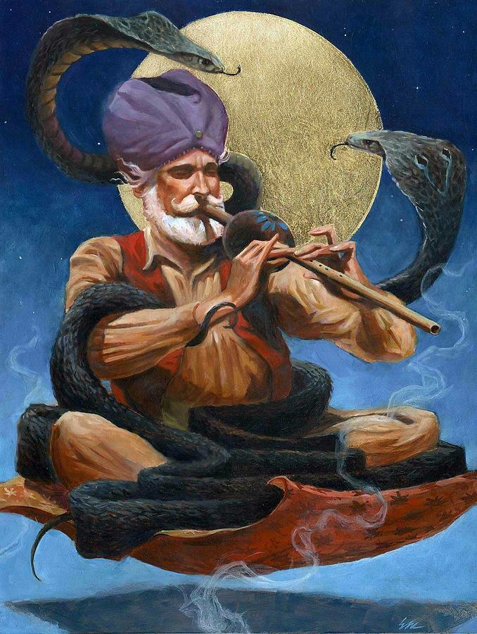 the art of snake charming Snake charming refers to the practice of hypnotizing a snake by playing an  instrument  snakes have long been popular subjects of hindu art.