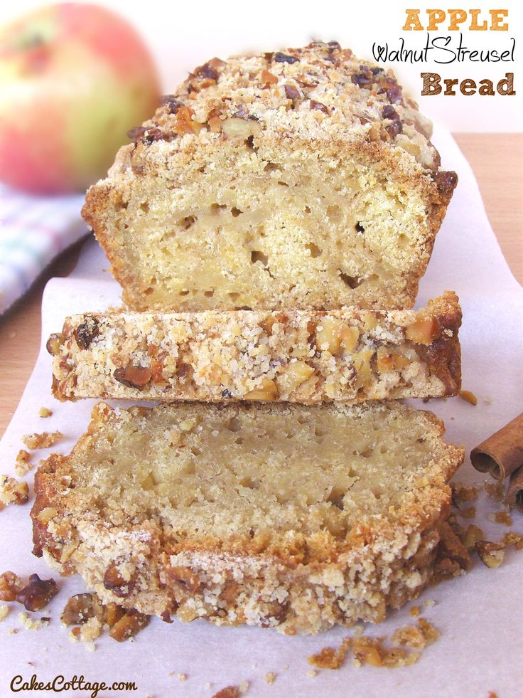 Apple Walnut Streusel Bread - An excellent way to enjoy your favorite ...