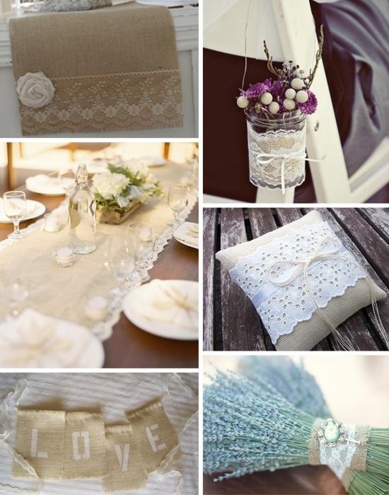 burlap and lace burlap wedding decor pinterest. Black Bedroom Furniture Sets. Home Design Ideas