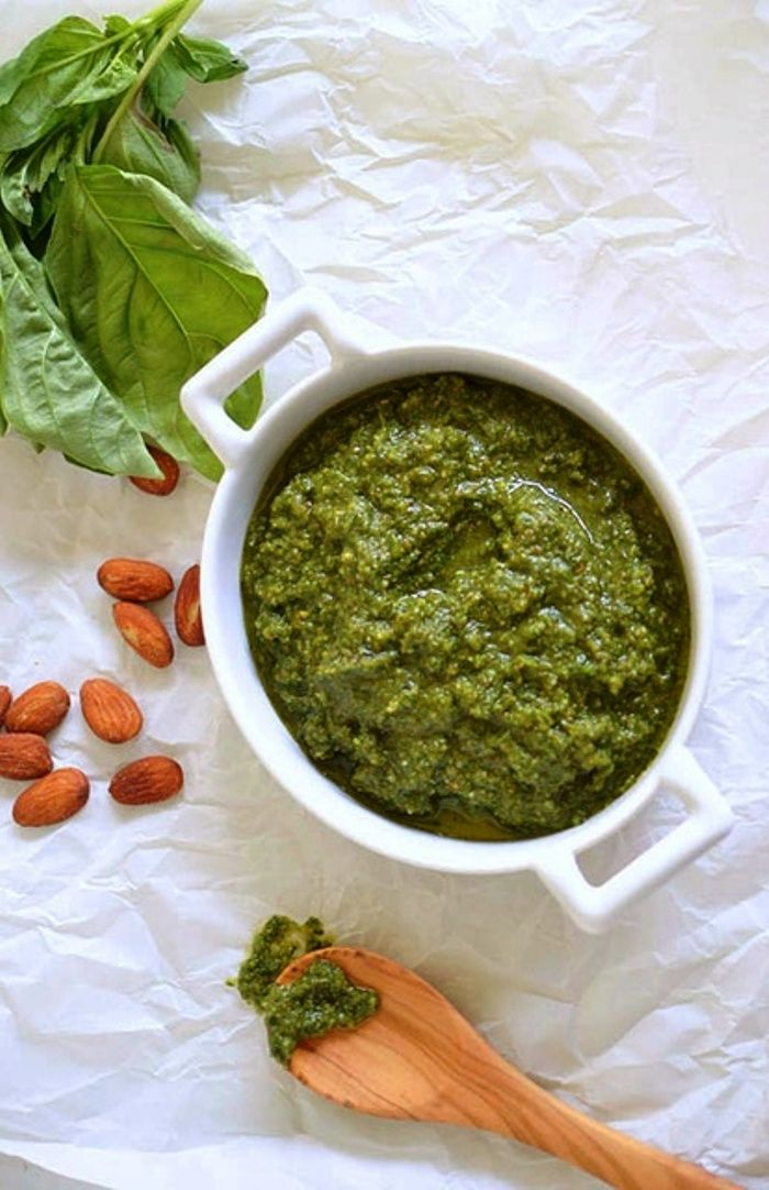 Vegan Almond and Basil Pesto | Vegan Sauces, Dressings and Spreads ...