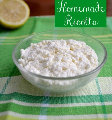 Homemade Ricotta Cheese, who knew this was so easy!!