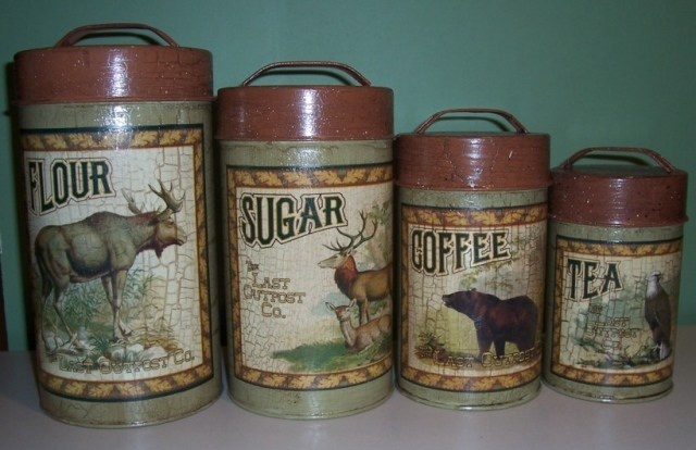 country kitchen wildlife canister set dishes pinterest