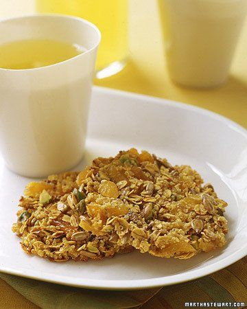 Quinoa, Apricot, and Nut Clusters -- maybe try with just the honey and ...