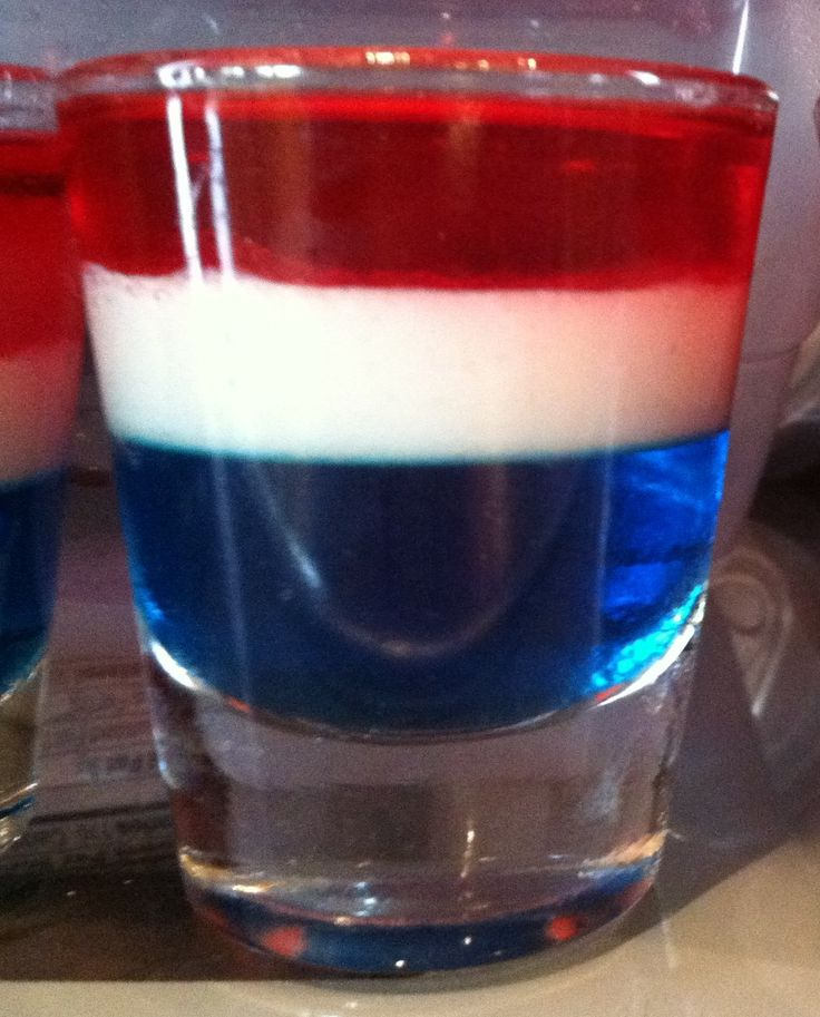 Patriotic Jell-o shot | Drinks (Party) | Pinterest