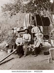 Pioneer Settlers, Homesteaders, Covered Wagon - Circa 1890 Vintage ...