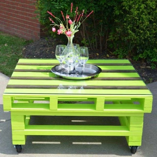 Table basse en palette  Pallet  Pinterest -> Table Basse En Palette