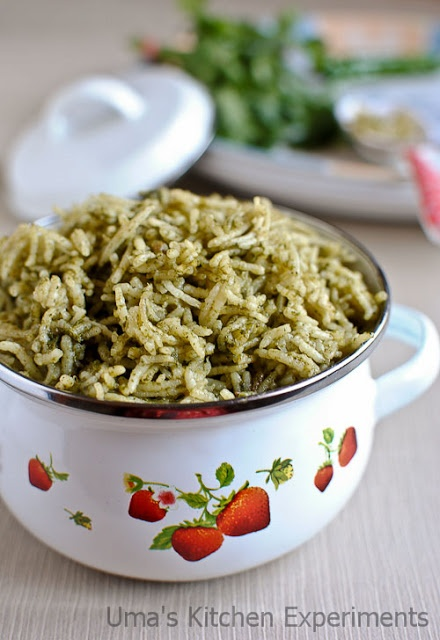 Mexican Green Rice / Arroz Verde ~ My Kitchen Experiments