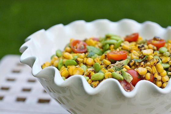Corn, Edamame and Avocado Salad | Repinned Recipes. Get in my belly ...