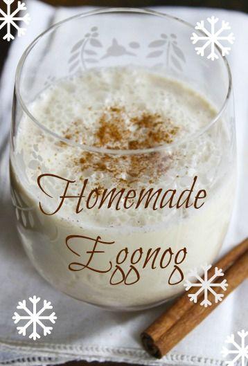 Homemade Holiday Eggnog | Want...Need...Love! | Pinterest