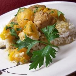 Apricot Chicken with Balsamic Vinegar Allrecipes.com /// served over ...