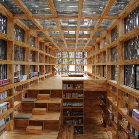 Wow wow! Now THAT is a room of books. Liyuan Library by Li Xiaodong via dezeen #Library #Li_Xiaodong #dezeen