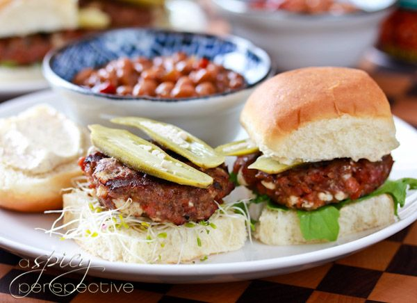 Andouille Blue Cheese Sliders From @Sommer | A Spicy Perspective